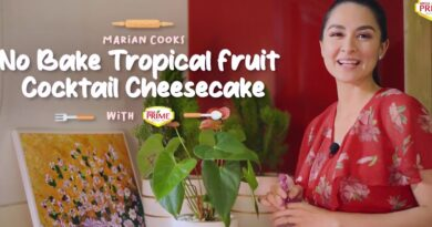 Marian Rivera's No-Bake Tropical Fruit Cocktail Cheesecake